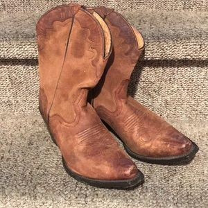 Authentic real goat leather cowgirl boots size 8